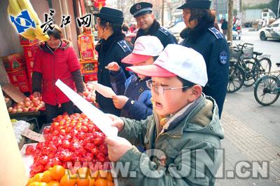 小学小时出新招小学生劝退占道户_24城管本江岸明湖图片