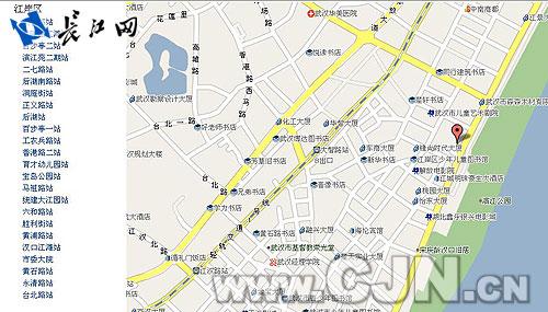 武汉公共自行车网上公示的站点分布图