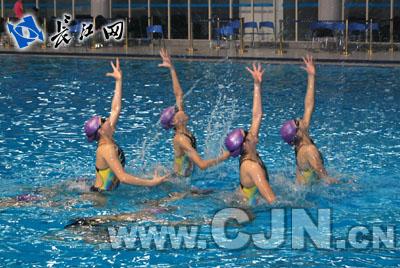 2010年篮球花样游泳锦标赛15日在汉欢迎全国受举行图片