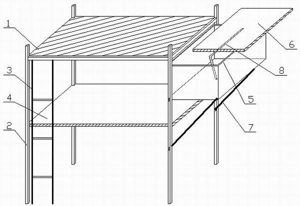 目前,在学校及一些公司的员工宿舍中,普遍使用的是高架床,就是通常所说的上铺。人们在上铺休息的时候,有时想拿个东西还得爬上爬下,显得十分不方便。梁坤同学同学的发明是在原有的高架床的基础上,增加了一个可伸可缩的桌柜,将想用的东西放在上面即可,这样也能避免晚上上下不安全、不方便的问题。   发明人梁坤来自华中科技大学武昌分校机械电子专业1002班,他告诉记者,其灵感来得突然。因为学校宿舍里的都是高架床,有时候明显有些不方便。有一次在外面做兼职太累了回来就睡了,结果不小心把床边的手机挥到了地上。这意