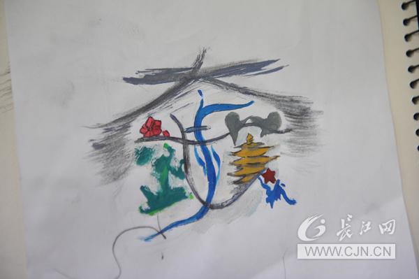 武汉高中生绘制武汉城市形象标识