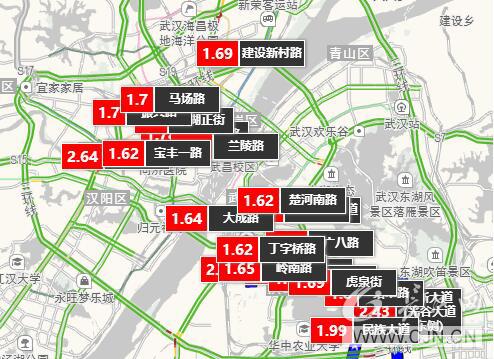 东湖风景区游览路线图
