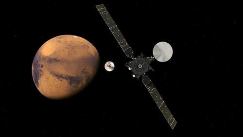 """综合报道,当地时间16日,由欧洲与俄罗斯航天局合作的""""火星太空生物图片"""