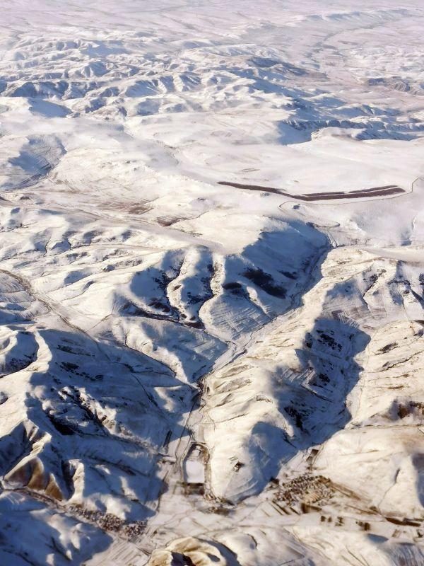 雪后内蒙古壮美如画