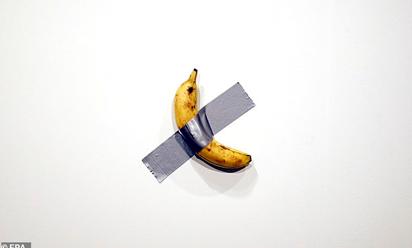 一块胶带一根香蕉售价12万美元,目前已卖出两根