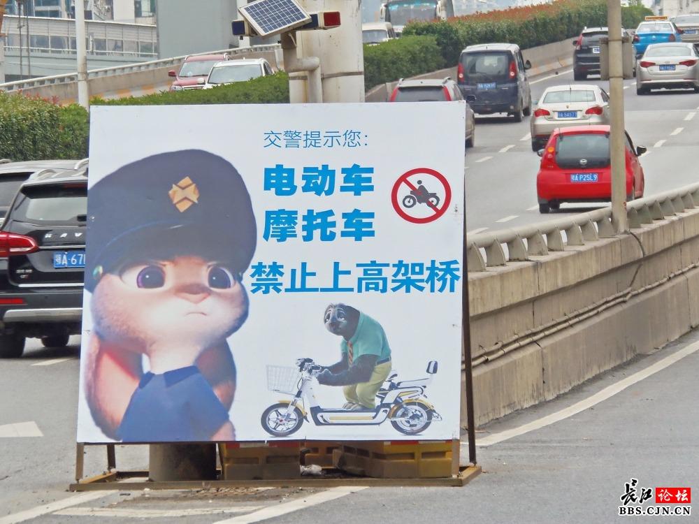 《疯狂动物城》卡通交通提示牌亮相街头