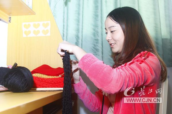 大渔网围巾织法图解步骤