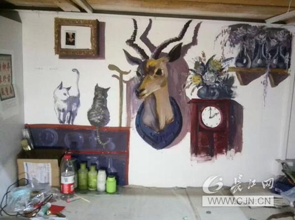 李雅丽手绘墙画