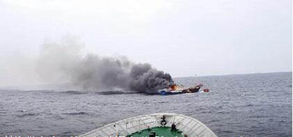 中渔船起火3死