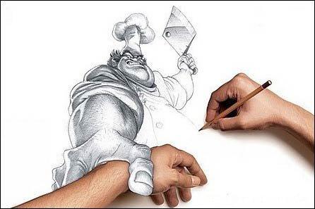 看到的最具立体感的铅笔画