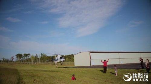美国爸爸开直升机给儿子拔牙:为给孩子快乐