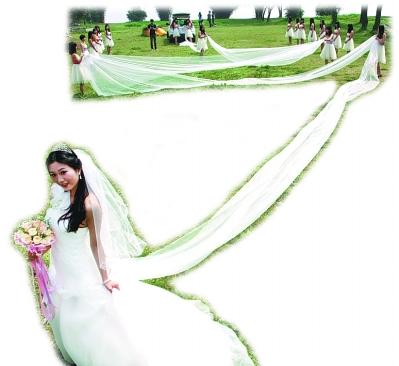 武汉最长婚纱有多长 520米