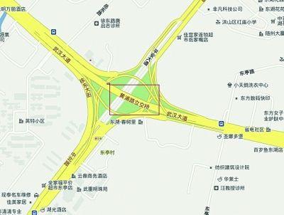 网上电子地图摆乌龙 黄浦路立交桥被搬到武昌图片