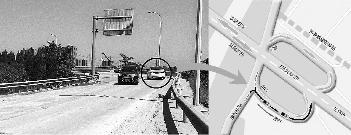 设计存先天不足 机动车频频逆行上白沙洲大桥