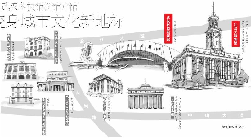 江汉关博物馆武汉科技馆新馆开馆 变身城市新地标