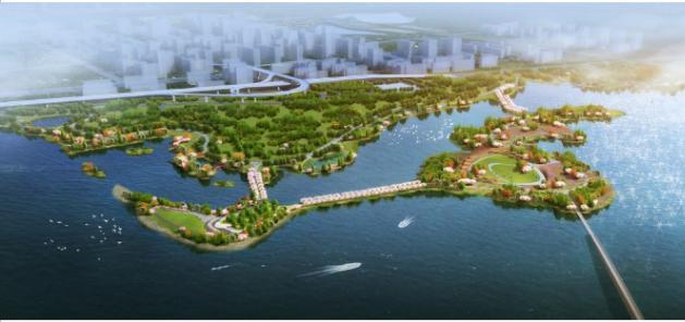 二期湖澤道的白馬洲桃花島上將打造中國東湖國際公共藝術園,展示國內