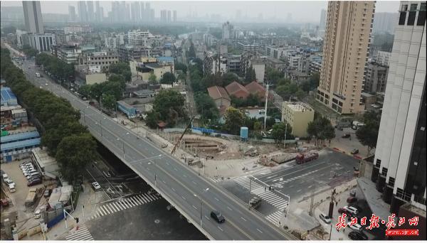 武九管廊建设打通多条断头路,建设六路与和平大道交叉