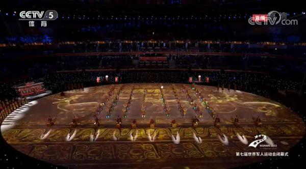 当编钟遇上茉莉花,这场军运会闭幕式表演唯美到不像话