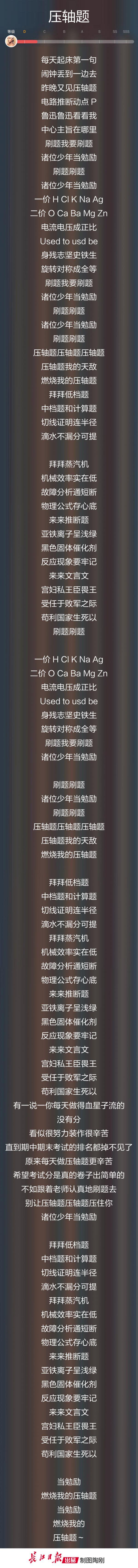 """武汉这群初中生改编""""学霸版""""《卡路里》"""
