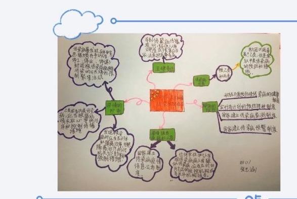 手绘宣传画报制作思维导图,武汉伢做公共卫生安全的守护者
