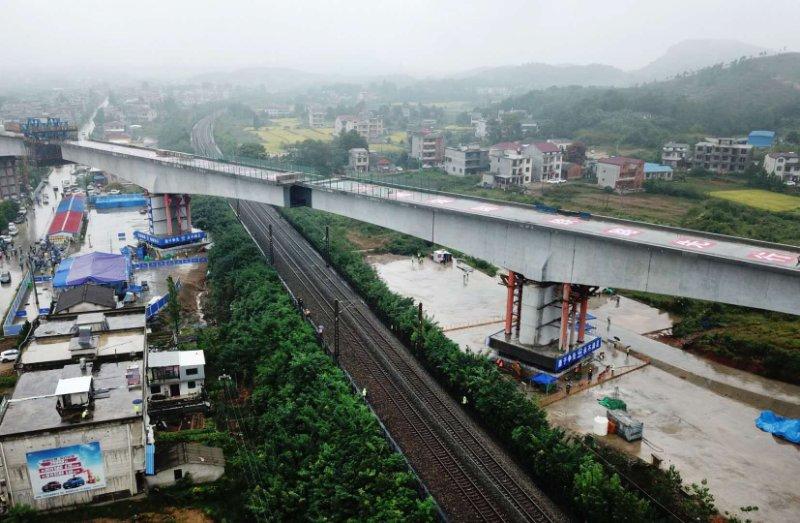 荆荆铁路开建,未来武汉到荆门2小时