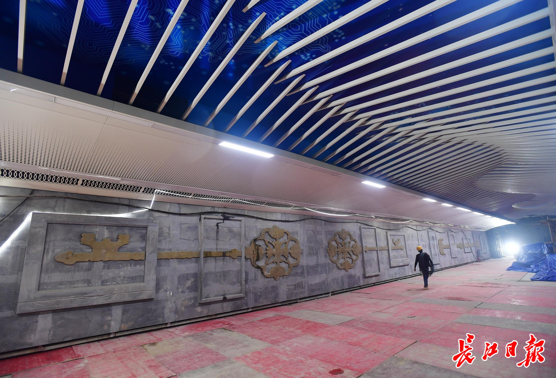 地下37米,武汉最深的地铁站,地铁8号线二期街道口站进入收尾阶段