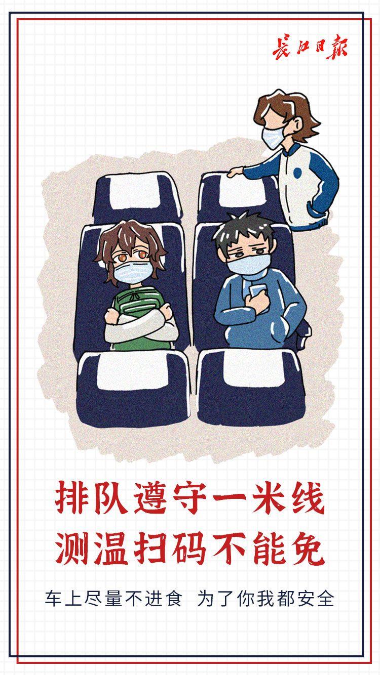 乘坐公共交通,这组防疫顺口溜要记牢!丨海报插图(2)