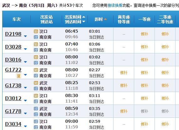 """""""五一""""武汉到广州重庆等地火车票销售火爆"""
