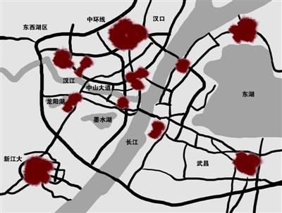武汉11热岛 汉口火车站一带最热