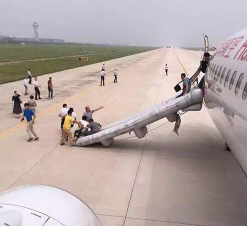 飞机起火迫降