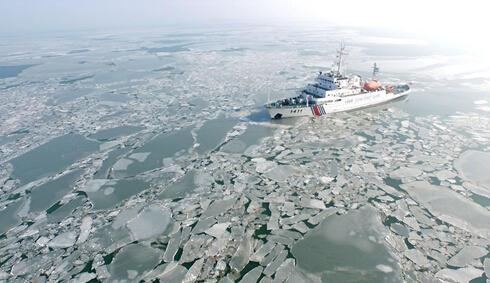 直击辽东湾冰情